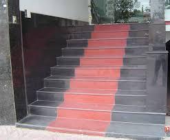 Đá Hoa Cương ốp cầu thang đen đỏ mẫu 125