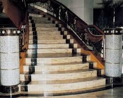 Đá Hoa Cương ốp lát cầu thang mẫu 126 vàng đen