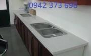 đá ốp lavabo Trắng nhân tạo