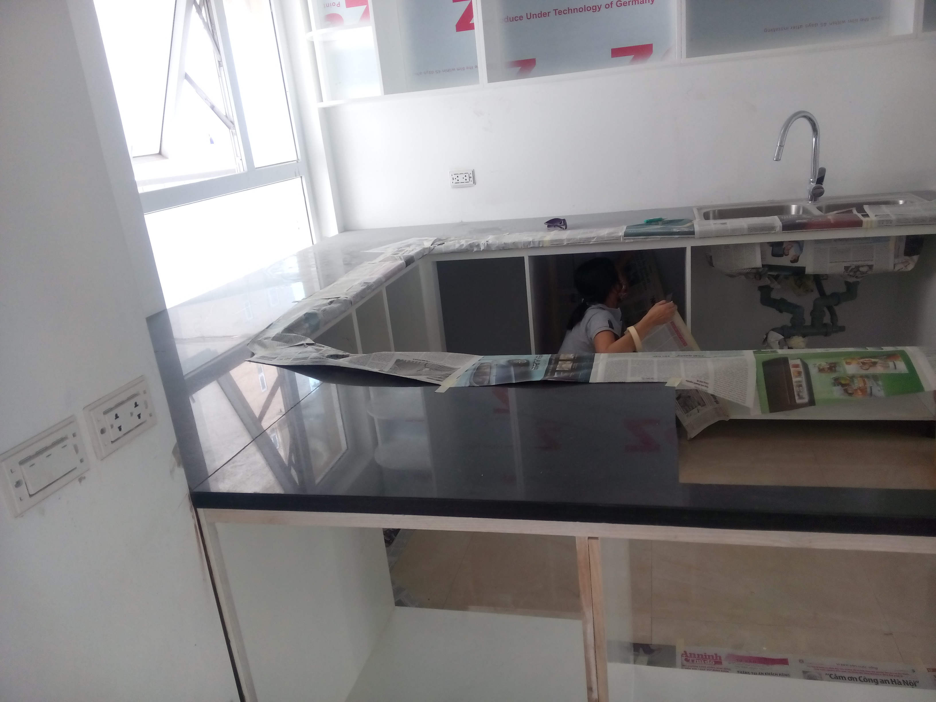 Đá ốp Bếp đá ốp lavabo Kim Xa Hạt Trung